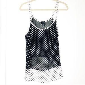 Torrid sz 0 black/white polka dot tank top